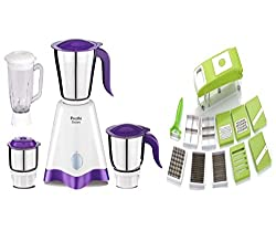 Preethi Crown MG 205-500 Watts Mixer Grinder With Vegetable Cutter Combo