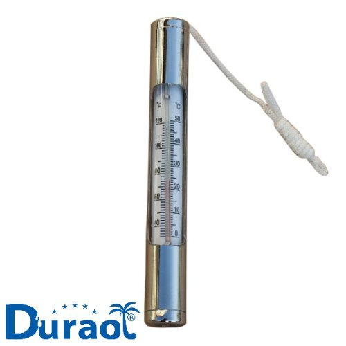 Duraol® Deluxe Pool Thermometer aus Chrom (sehr stabil)