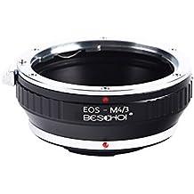 Beschoi EOS to Micro 4/3 Adaptador de Montaje de Lente para Canon EOS (EF / EF-S) de Lente a Sistema MFT, M4 / 3 Cuerpo de cámara, para Cámaras Olympus PEN y Panasonic Lumix