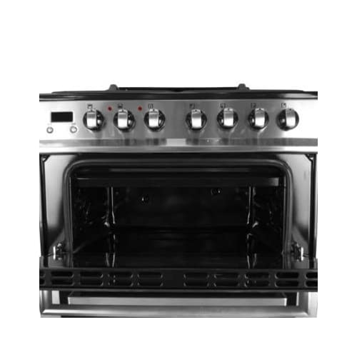41nqUuklgqL. SS500  - iQ 60cm Double Oven Dual Fuel Cooker - Stainless Steel