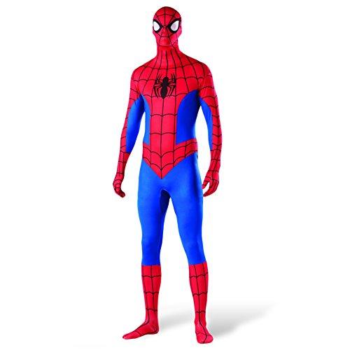 Spider-Man Marvel Kostüm Spinnenmann Overall/Maske blau/rot Fasching - L