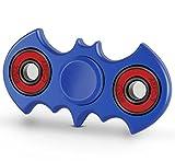 Fidget ADHS Spinner Toys Hand Spielzeug Hengsong Fledermaus-Form Finger Spinner für Kinder und Erwachsene Geschenke 90-180 Sekunde Laufzeit verbessert Version CE (Blau)
