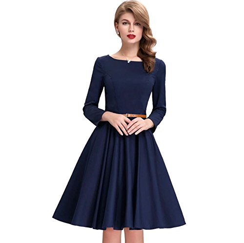 Shivalika Tex Women's Blue Skater Dress