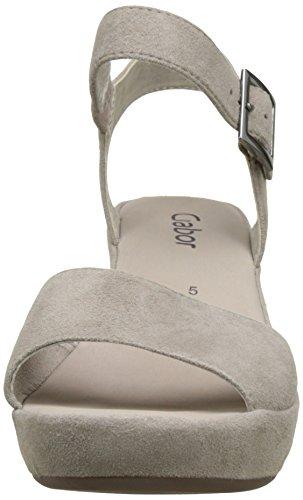 Gabor Shoes 65.751, Sandali con Tacco Donna Grigio (visoneohne Strass 53)
