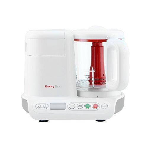 *H.Koenig BB80 Dampfgarer und Mixer für Zubereitung von Babynahrung / Glasbehälter / Ohne Zusatz von Bisphenol A / 10 automatische Programme / 950 ml / weiß*