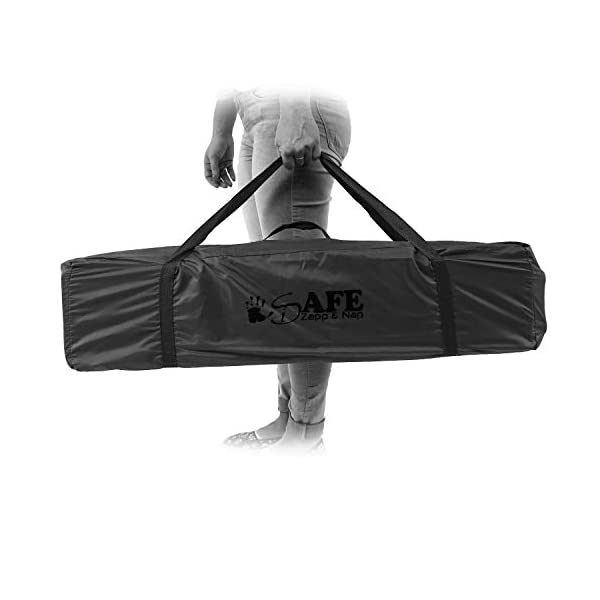 iSafe Rest & Play Luxury Baby Travel Cot Playpen - Purple 120 cm x 60 cm iSafe Luxury Travel Cot / Playpen Four Mesh Side Panels Allow Ventilation & Easy Viewing Of Your Little One Complete With Handy Carry Bag Complete With Shoulder Handle Straps Or Carry Handle 5