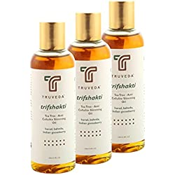 Ayurvedic Anti Cellulite Slimming Oil - Tea Tree (Trifshakti 100mL) -PACK OF 3- 300ml