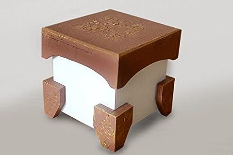 Handgemachte Katze Hundefutter Eingabefeld Holz Mehrfarbige Handarbeit Haustier Speicher Supplies