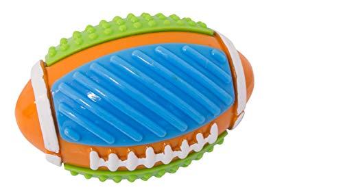 Football Hundespielzeug Ball für große und kleine Hunde Geräusch Gummi Robust Noppen Bälle Training Spielzeug Hundeball Outdoor Kauen Beissen