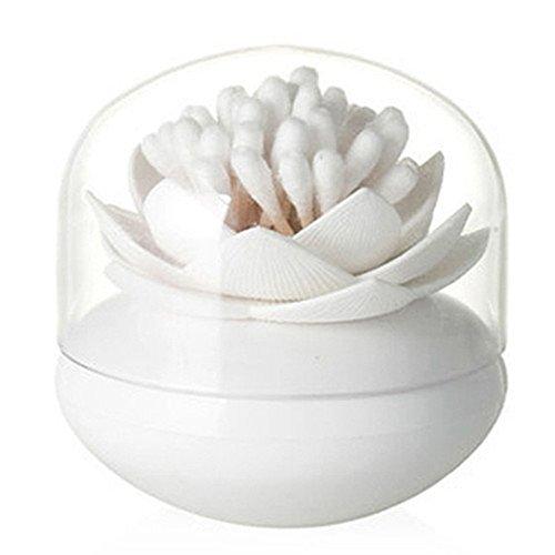 Eagsouni Lotus Blumen Wattestaebchen Spender Wattestäbchen Halter Aufbewahrung Cotton Swab Box Zahnstocherspender Mit Deckel