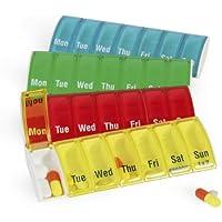 Preisvergleich für Anabox Tablettenbox für 7 Tage, verschiedene Farben