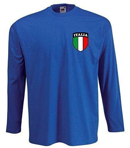 Italy Italian Italia Retro Kids Long Sleeved Football T-shirt - All Sizes Available  7 8 Year Old