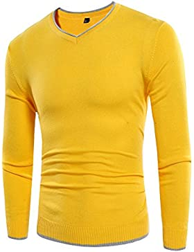 HY-Sweater Simple Mode Men personalisierte Jersey, Amarillo, Medium