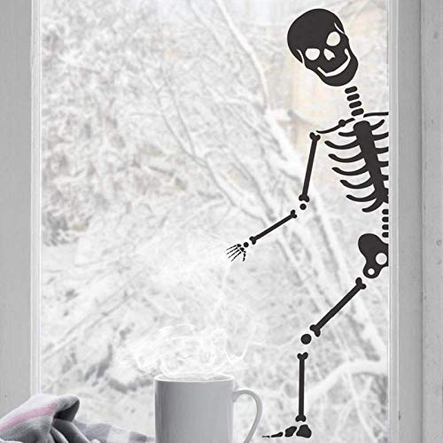 JXYY Halloween Wandaufkleber. Bones Party Decor Fensteraufkleber Weihnachtsfeier Dekoration Zuhause Wohnzimmer Dekoration 42x112cm