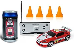 Digital Additions® Micro Remote Control RC Car in a Coke Can 1:64 Scale (Red/White) 27 MHZ