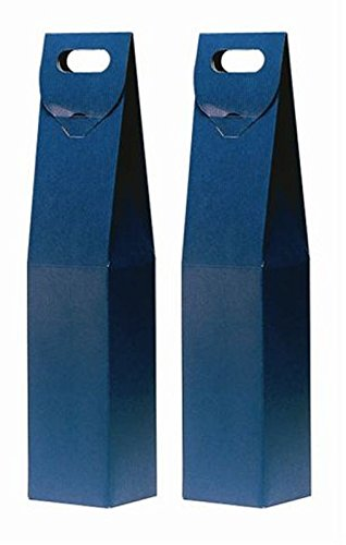 Duhalle 170 astucci per Bottiglia di Vino, in Cartone, Colore: Blu, Confezione da 2