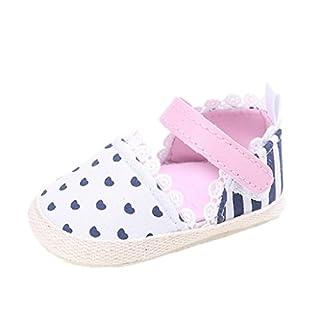 Auxma Baby Prewalker Schuhe,Baby-Sommer-Kleinkind-Prinzessin erste Wanderer-Schuhe Sandalen (12cm(6-12M), Rosa)