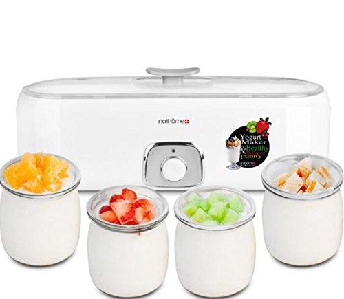 Máquina De Yogurt,Yannuo Yogur Casero De 4 Vasos, Máquina Automátic