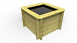 1m x 1m wooden raised fish pond 27mm 697mm high 389 litres for 50 gallon koi pond