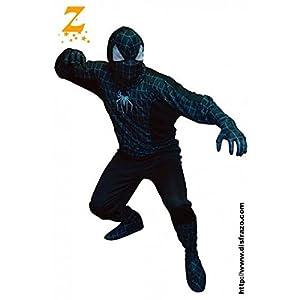 Fyasa 866745-t04Spider Hero disfraz, negro, grande
