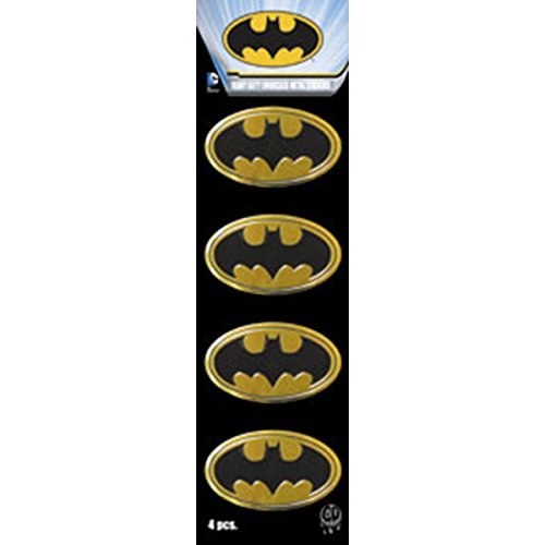 C&D Visionary DC Comics Licensed Heavy Duty Embossed Metal Stickers 4/Pkg-Batman Logo 1