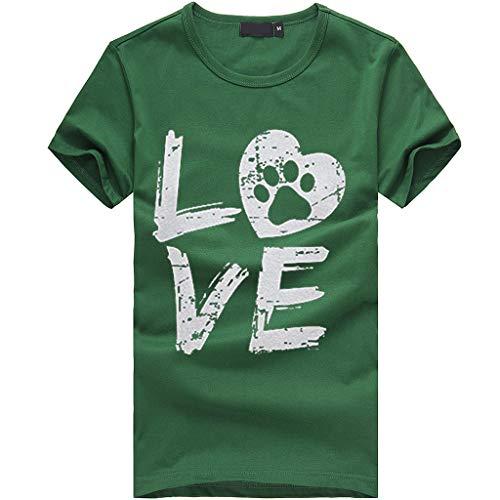 rt Shoulder Basic Tee Kurzarm O-Ausschnitt Casual Sommer Lose Shirt Oberteile Love Briefdruck Wild T-Shirt Geeignet für den Sommer ()