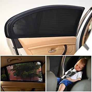 Uarter 2-er Auto Sonnenschutz Kinder Sonnenblende Auto mit UV Schutz Sonnenschutzrollo Auto für Seitenfenster Meshmaterial Schützt Mitfahrer, Baby, Kinder & Haustiere, 58.5 X 48 cm