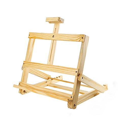 Staffeleien WSSF- Tischplatte Kiefer Holz Falten Sketchpad Einstellbare Desktop Ölgemälde Regal Werbung Poster Reißbrett Skizzieren Display-Ständer