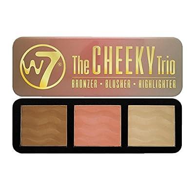 W7 Cheeky Trio Bronzer/Blusher/Highlighter, 21 g