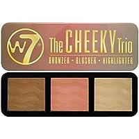 W7 The Cheeky Trío Paleta 3 en 1 con Bronceador, Colorete e Iluminador