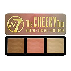W7 The Cheeky Trio Bronzer, Blusher and Highlighter Powder Palette