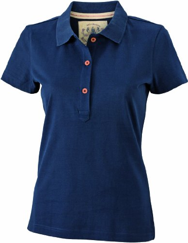 James & Nicholson Polo Ladies' Vintage - Mujer, Azul (navy), Small (Ta