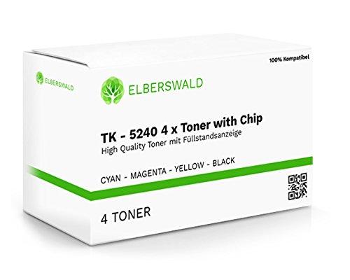 Preisvergleich Produktbild 4er Set XL Toner kompatibel zu Kyocera TK-5240 für Kyocera Ecosys M5526cdw M5526cdn P5026cdw P5026cdn - mit Chip und Füllstandsanzeige