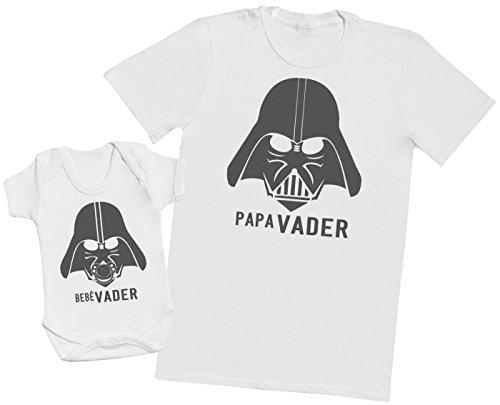 Zarlivia Clothing Bebé Vader & Papá Vader - Regalo para Padres y beb