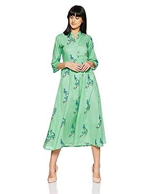 Gerua Women's Pleated Maxi Dress
