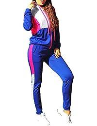 Yying Casual Chándal Conjunto de Dos Piezas Conjunto de Dos Piezas Sudaderas con Capucha de Manga Larga Conjunto de Pantalones Sportwear Traje de Chándales