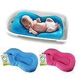 belupai Tappetino per il bagnetto Neonato Pieghevole Vasca da bagno per bambini Pad Sedia Mensola Vasca da bagno neonato Sostegno infantile Cuscino Mat(blu)
