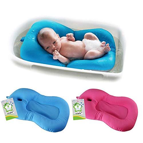 Belupai Alfombrilla de baño para bebé recién nacido, plegable, para bañera,...