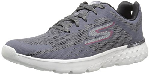 Skechers Go Run 400, Scarpe Sportive Outdoor Uomo Grigio (Charcoal/red)