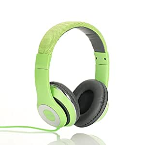 Ausdom F01 Kopfhörer Hi-Fi Stereo On-Ear Kopfhörer Ohrhörer mit Mikrofon 3.5mm-Anschluss Gaming Headset für PC, Desktop, Laptop, Tablet, iPhone 6s/6s Plus/6/SE/5s/5/4, Samsung Huawei Kinder Smartphone Headphone (Grün)
