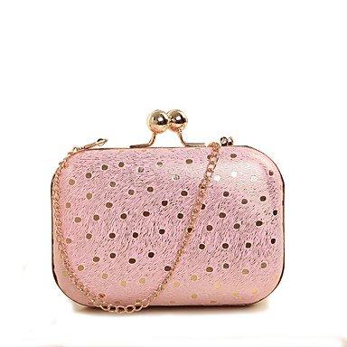 WZW Donna PU (Poliuretano) Formale Casual Serata/evento Matrimonio Ufficio e lavoro Borsa da sera . blushing pink blushing pink