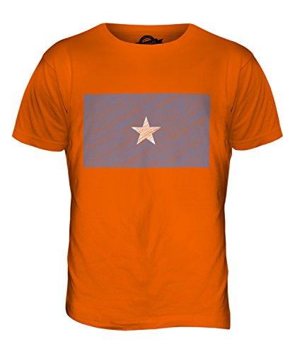 CandyMix Somalia Kritzelte Flagge Herren T Shirt Orange