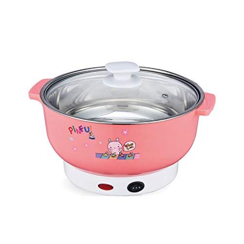 Republe Multifonctions Cuisinière électrique Mini Chauffage Pan en Acier Inoxydable Hotpot Nouilles de Riz Vapeur oufs cuits à la Vapeur marmite à Soupe