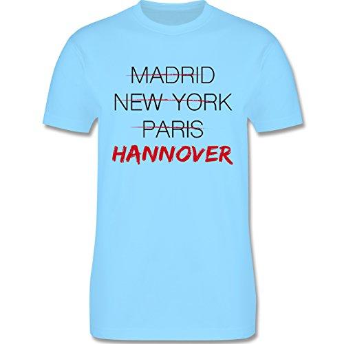 Städte - Weltstadt Hannover - Herren Premium T-Shirt Hellblau