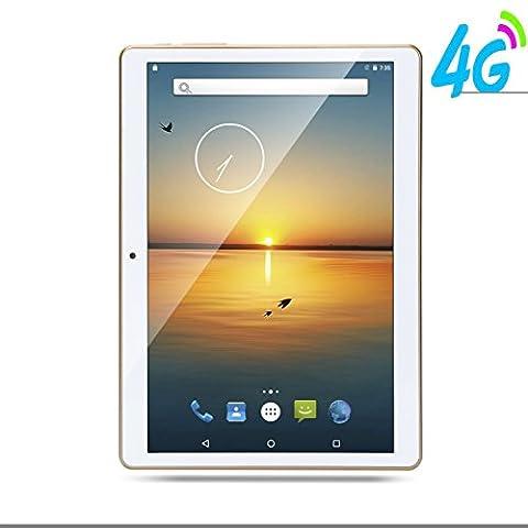 4G LTE 9.7 Pouces Tablette tactiles 1280X800 IPS Octa Core , 4 Go de RAM, Disque dur 64 Go, Double sim Phablette Android 5.1 GPS 10 Blanc