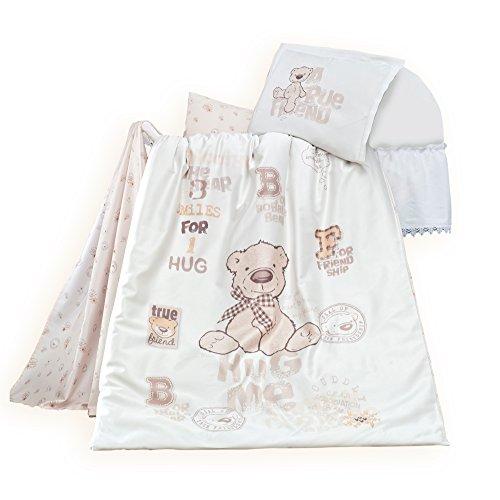 """sei Design Exclusive Niedliche Kinderbettwäsche """"Bernard"""" 100% Baumwolle: Bettdeckenbezug 100x135 + Kopfkissenbezug 40x60 mit Reißverschluss: Ein Zauberhafter Hingucker im Kinderzimmer."""