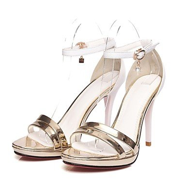 LvYuan Damen-Sandalen-Hochzeit Büro Kleid Lässig Party & Festivität-Nappaleder Leder-Stöckelabsatz-Andere Komfort Neuheit Fersenriemen Gladiator Silver