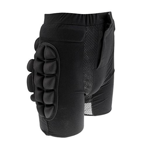Gazechimp Schwarz Protektorenhose Snowboard Protektoren Unterhose Hüftschutzhosen für Kinder - M