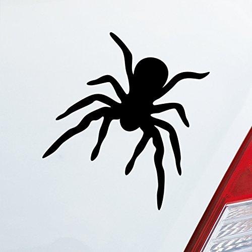 Auto Für Spider (Auto Aufkleber in deiner Wunschfarbe Spinne Spider giftig Tier Ekel Fun 10x10,5 cm Autoaufkleber Sticker)