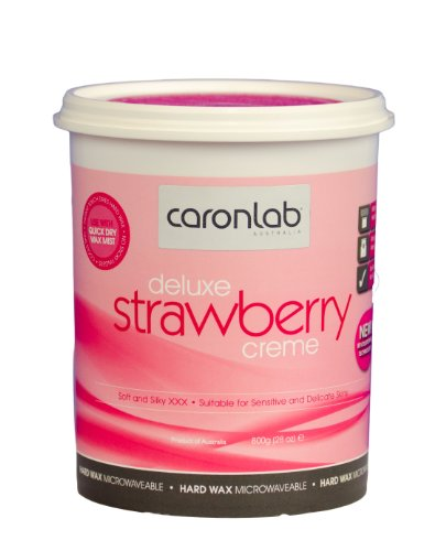 Heißwachs Erdbeere Creme Wachs 800ml Mikrowelle geeignet, für Intim- Gesicht-, Damenbart- und Achsel- enthaarung. Benutzung ohne Vliesstreifen